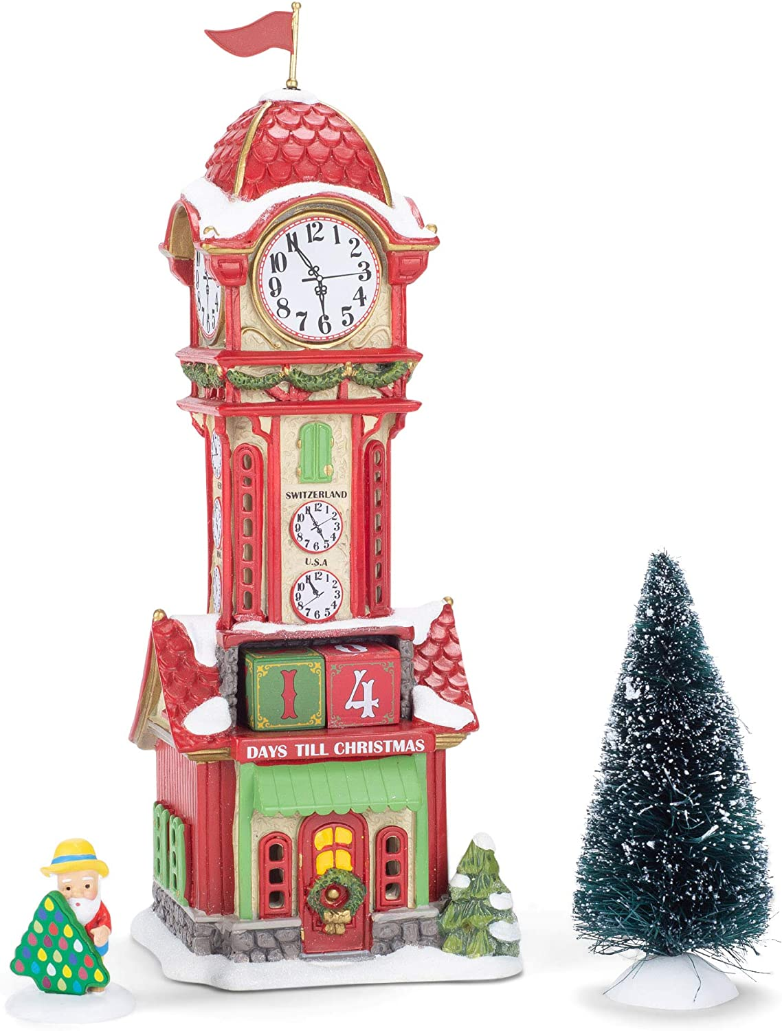 Philadelphia Mall Department 56 North Pole Series Christmas Lighte Countdown Tower Outstanding