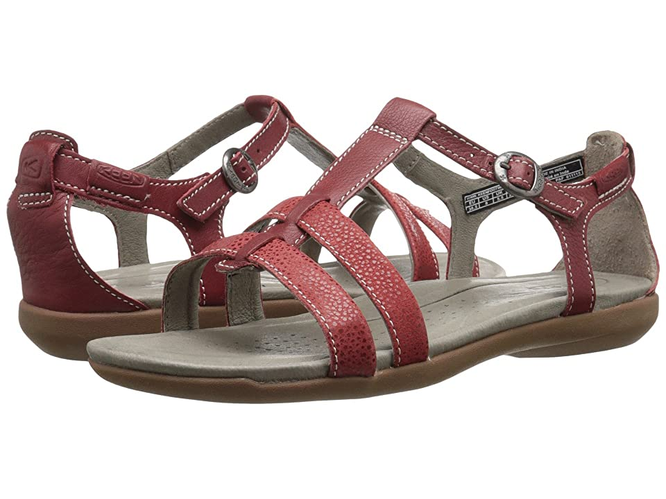 Keen Rose City T-Strap (Red Dahlia) Women