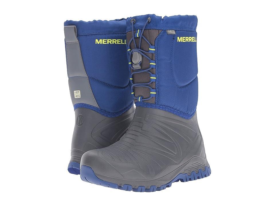 Merrell Kids Snow Quest Lite Waterproof (Big Kid) (Grey/Cobalt WPF Synthetic) Boys Shoes