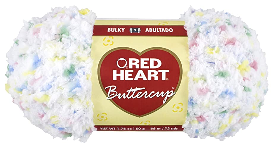Red Heart Buttercup Yarn, White Multi