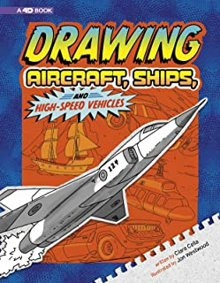 Drawing Aircraft, Ships, and High-Speed Vehicles: 4D an Augmented Reading Drawing Experience