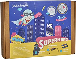 jackinthebox Superhero DIY Dress up Art and Craft Kit | Make a Cape, Mask and Cuffs | Best Gift for Boys Ages 5 6 7 8 Year...