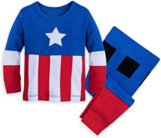 a694492684a Marvel Captain America Costume PJ PALS for Baby Size 0-3 MO Multi