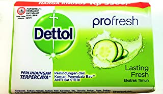 Dettol Antiseptic Soap Profresh Lasting Fresh 105g - Pack Of 12
