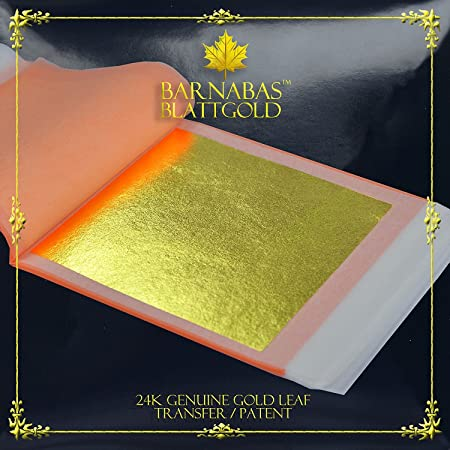 24k Double Gold Leaf Transfer Type // 5 Sheets