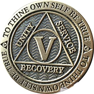 Recoverychip 5 Year AA Medallion Reflex Antique Chocolate Bronze Chip