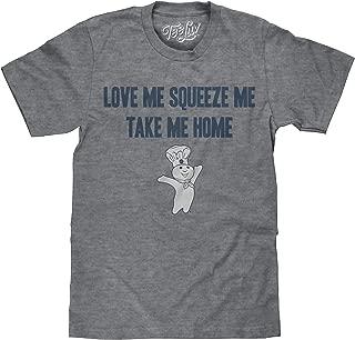 Pillsbury Doughboy T-Shirt - Love Me Squeeze Me Take Me Home Graphic Tee