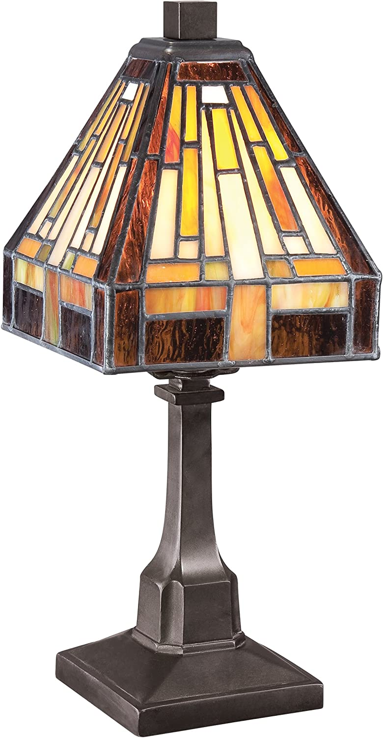 Quoizel TF1018TVB Stephen 1-Light Table Lamp, Vintage Bronze
