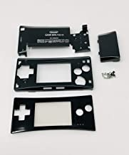 RGRS Replacement Black Full Housing Shell Case Repair Parts Kit w/Lens & Screwdriver for Nintendo Game Boy Micro Console…