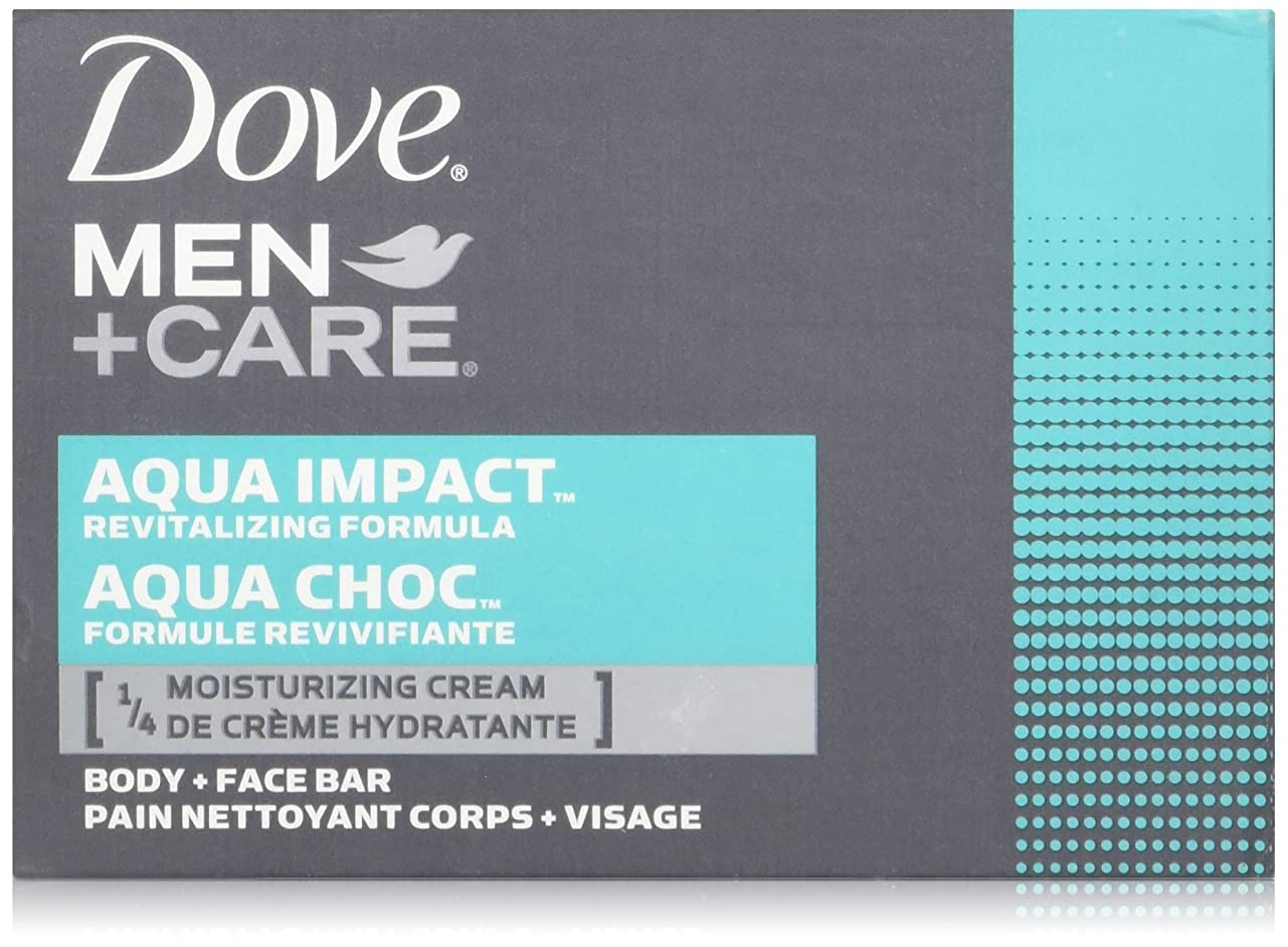 約安価な基準Dove Men + Care Body and Face Bar, AQUA IMPACT 4oz x 6soaps ダブ メン プラスケア アクアインパクト 固形石鹸 4oz x 6個パック