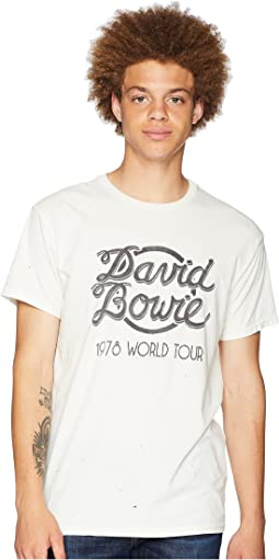 Black Label Vintage Distressed Bowie World Tour Tee
