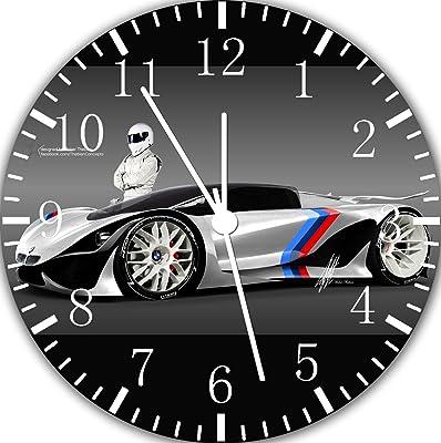 Borderless Super Car Frameless Wall Clock E242 Nice For Decor Or Gifts