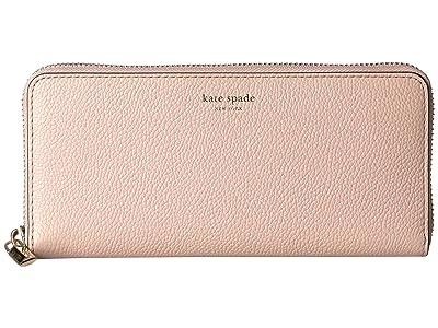 Kate Spade New York Margaux Slim Continental Wallet (Pale Vellum) Checkbook Wallet