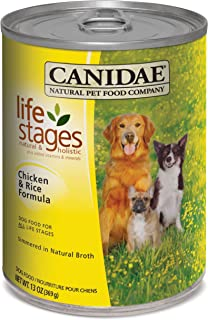 Canidae Life Stages Dog Food Chicken Rice 13 Ounce Can, Pack of 12