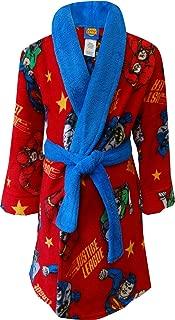 Boy's Red Bathrobe, Flash, Batman, Green Lantern Robe, Size 8