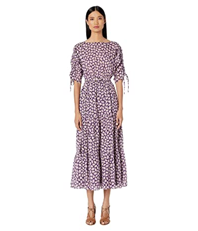 Kate Spade New York Sunny Bloom Midi Dress (Deep Pansy) Women