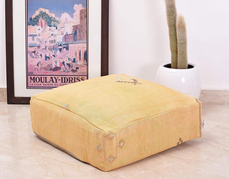 Moroccan Cactus Floor Pouf Cover Ottoman Bohemian Handmade foo Low price Max 66% OFF