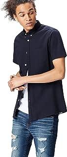 Amazon Brand - find. Men's Cotton Slim Fit Short Sleeve Casual Shirt