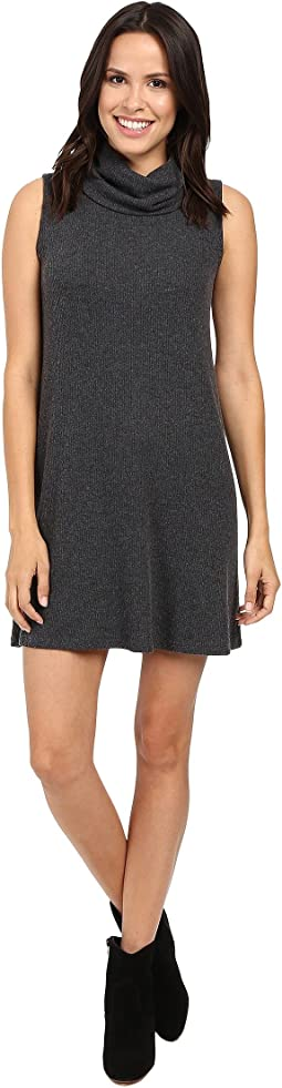 Super Soft Madison Rib Sleeveless Cowl Shift Dress