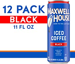 Maxwell House Black Iced Ready to Drink Coffee (11 oz Can, Pack of 12)
