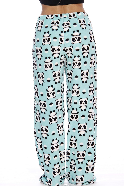 Just Love Women's Cute Character Print Plush Pajama Pants - Petite to Plus Size