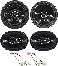 """Package: Pair of Kicker 41DSC6934 6x9"""" D-Series 3-Way Car Speakers Totaling 720 Watt Peak/180 Watt RMS + Pair of Kicker 41... photo"""