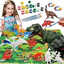 HOMOFY Dinosaur Painting Kit for Kids STEM Dinosaurs Toys Kids Crafts and Arts Set DIY Easter Paint Dinosaur Animal Set Ar...