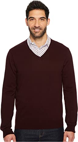 Classic Solid V-Neck Sweater