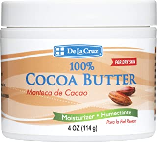 De La Cruz 100% Pure Cocoa Butter, Hexane-Free, Packed in USA 4 OZ