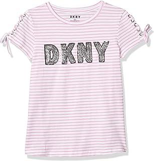 DKNY girls Short Sleeve Fashion T-Shirt T-Shirt