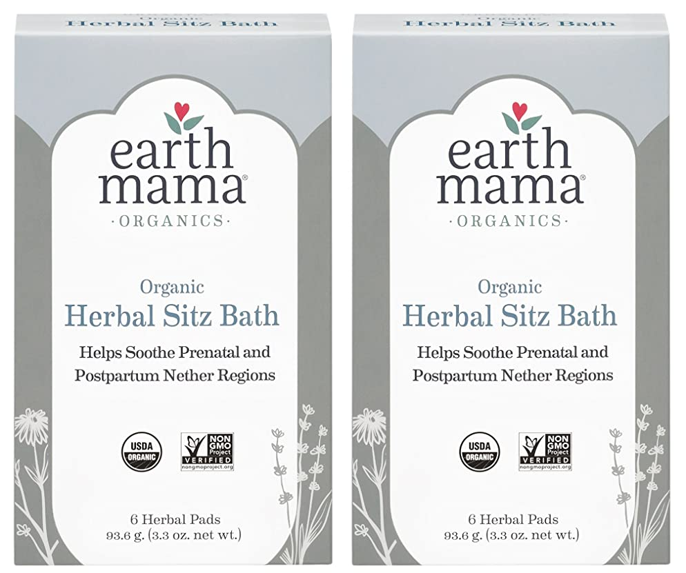 Organic Herbal Sitz Bath by Earth Mama | Soothing Soak for Pregnancy and Postpartum Care, 6-Count (2-Pack)