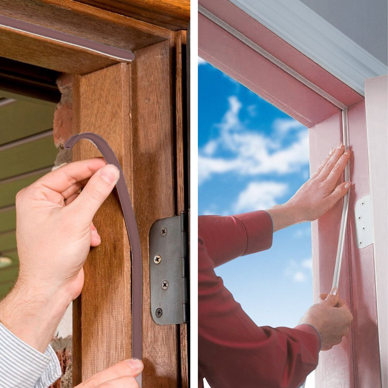 goodyh, Junta de aislamiento acústico weathers Trip impermeable sello D perfil de junta de goma para columnas de puertas y ventanas contra corrientes de aire fríos, ruido (2 ruedas total de 12