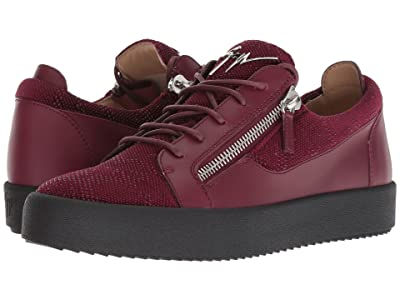 Giuseppe Zanotti May London Stamped Low Top Sneaker (Bordeaux) Men