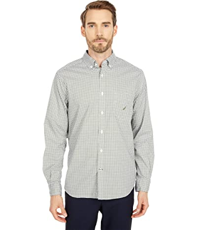 Nautica Gingham Woven Shirt (Green) Men