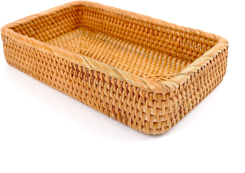 Homedy Crafts Limited time sale Rattan Toilet Tank Holder Guest Basket Woven Finally resale start Towel