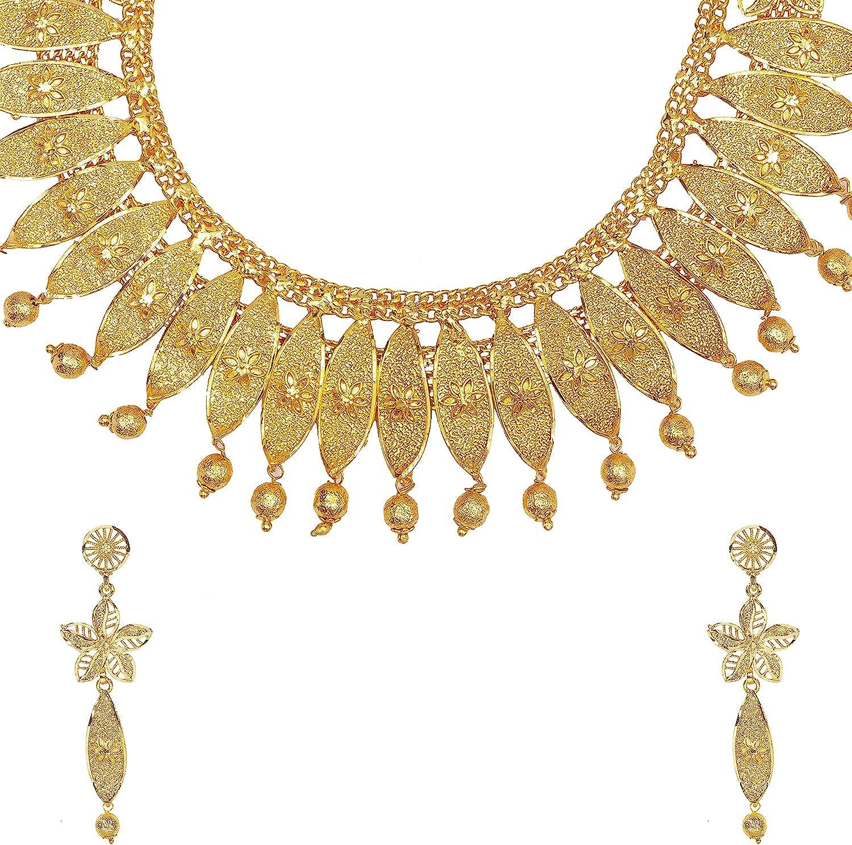 Bodha Traditional Gold Plated Designer Stylish Traditonal Bridal Jewellery Necklace Set for Women (SJ_2948)