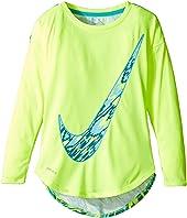 Nike Kids - Dri-FIT Modern Long Sleeve Graphic Top (Toddler)