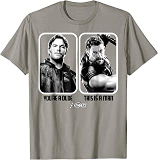 Marvel Infinity War Star-Lord Thor Is A Man Graphic T-Shirt