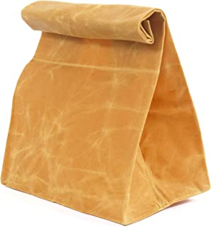 Tylson Waxed Canvas Lunch Bag. Perfect and Stylish Reusable Alternative to Paper or Plastic