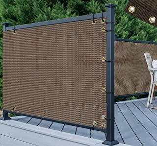 TANG 3' x 50' Brown Residential Commercial Privacy Deck Fence Screen 200 GSM..