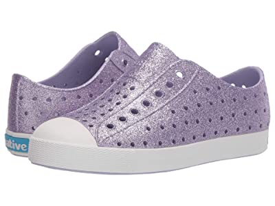 Native Kids Shoes Jefferson Bling Glitter (Little Kid) (Powder Bling/Shell White) Girls Shoes
