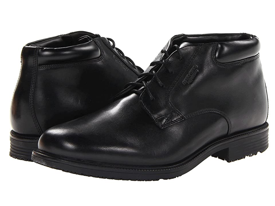 Rockport Essential Details Waterproof Dress Chukka (Black) Men