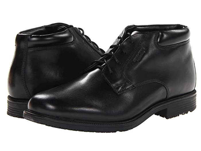 Rockport  Essential Details Waterproof Dress Chukka (Black) Mens Lace-up Boots