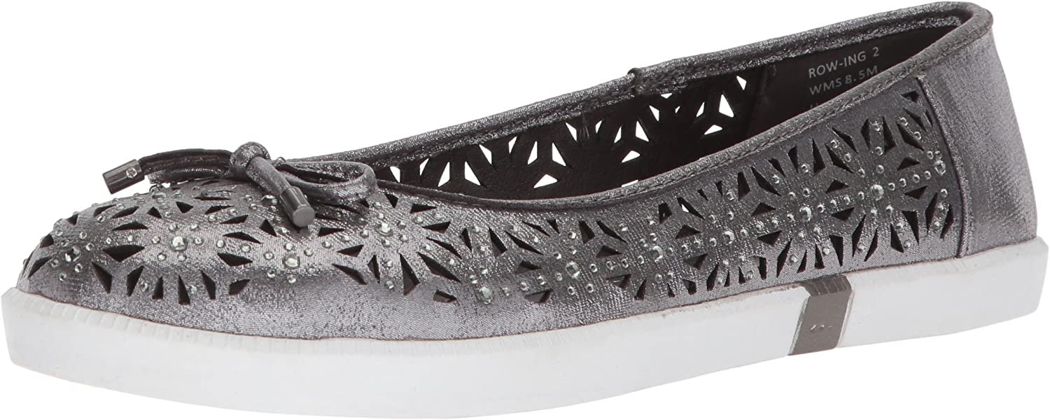 Kenneth Cole REACTION Womens Row-ing 2 Slip on Skimmer Flat with Bow Detail Ballet Flat