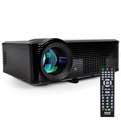 """Pyle Updated Video  Projector 5"""" - LCD Panel LED Cinema Home Theater with Built-in Stereo Speakers, 2 HDMI Ports & Keystone Adjustable Picture Projection for TV PC Computer & Laptop - PRJLE33"""