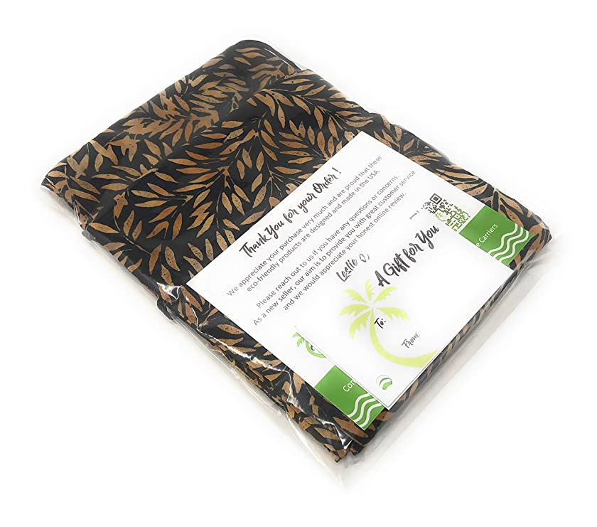 """Bali Blk. Fabric - Reusable Drawstring Gift Bag 