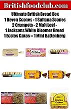 Bundle of 9 items – Ultimate British Bread Box – 1 Devon Scones - 1 Sultana Scones - 2 Crumpets - 2 Malt Loaf - 1 White Bloomer Bread – 1 Eccles Cakes – 1 Mini Battenberg Delivers 3-5 Days USA