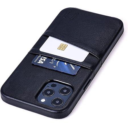 Dockem Exec M2 Funda Cartera para iPhone 12 Pro MAX: Funda Tarjetero Slim con Placa de Metal Integrada para Soporte Magnético: Serie M [Negro]