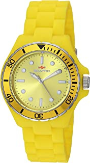 Seapro Women's Spring Stainless Steel Quartz Watch with Silicone Strap, Yellow, 18 (Model: SP3210