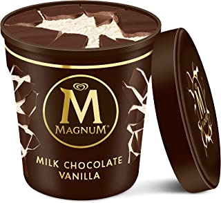 Magnum Ice Cream Milk Chocolate Vanilla made with Belgian chocolate 14.8 oz